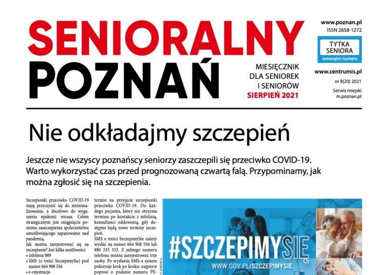 """Sierpniowy """"Senioralny Poznań"""" jest już dostępny!"""
