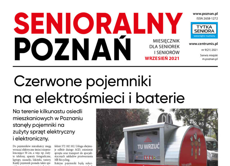 """Wrześniowy """"Senioralny Poznań"""" jest już dostępny!"""