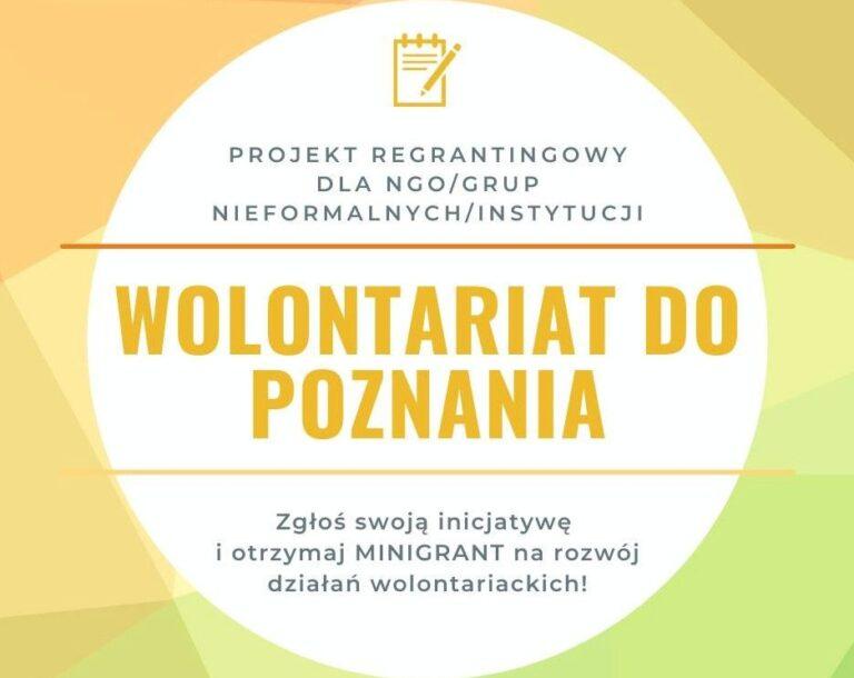 """Ruszył projekt """"Wolontariat do Poznania"""""""