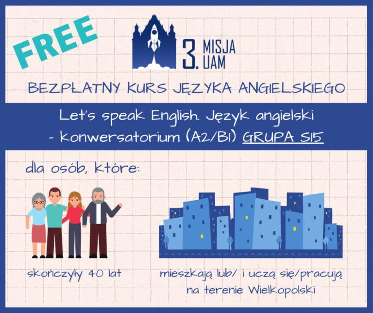 Darmowy kurs języka angielskiego dla osób w wieku 40+