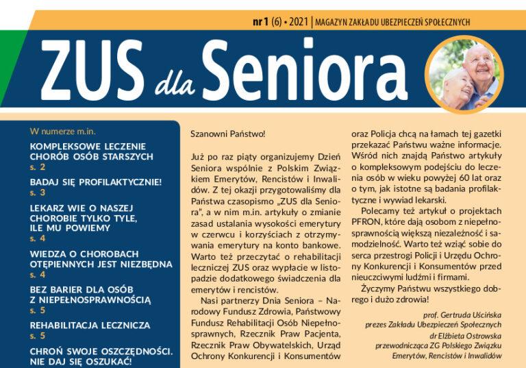 """Gazeta """"ZUS dla Seniora"""" w wersji online"""