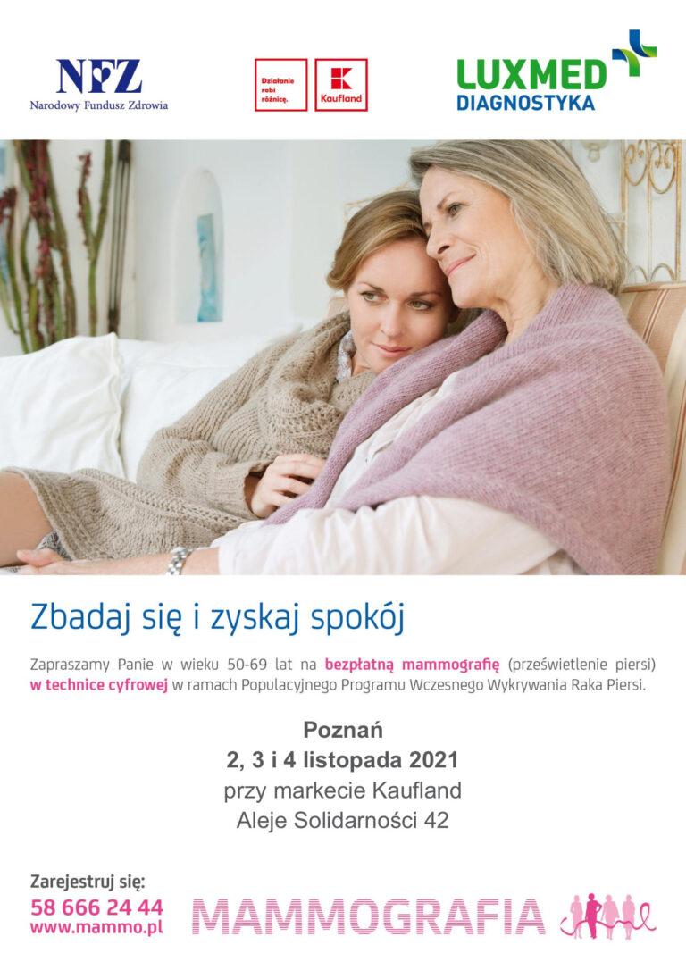 Bezpłatna mammografia dla kobiet wieku od 50 do 69 lat